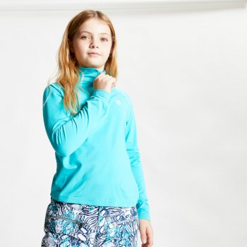 Dare 2b - Kids' Consist II Half Zip Lightweight Core Stretch Midlayer Ceramic Blue