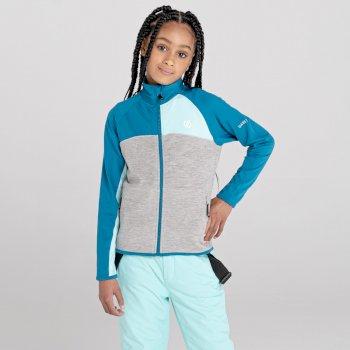Kids' Except III Lightweight Stretch Midlayer Dark Methyl Aruba Blue Ash Grey Marl