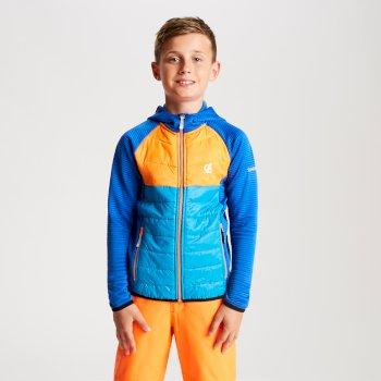 Kids' Infamy Hybrid Insulated Hooded Stretch Midlayer Oxford Atlantic Blue