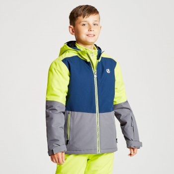 Kids' Aviate Ski Jacket Aluminium Grey Admiral Blue