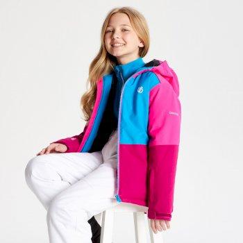Dare 2b - Kids' Aviate Ski Jacket Fuchsia Atlantic Blue Cyber Pink