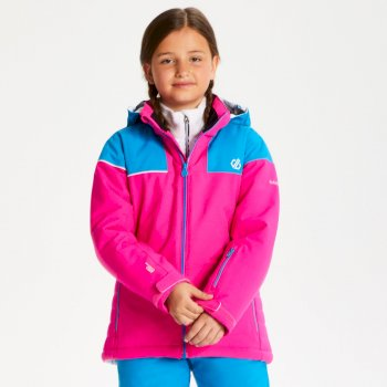 Kids' Entail Ski Jacket Cyber Pink Atlantic Blue