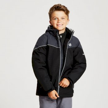 Kids' Oath Ski Jacket Black Ebony Grey