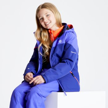 Kids' Oath Ski Jacket Spectrum Blue Simply Purple