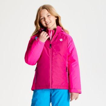 Różowo-fioletowa dziecięca kurtka narciarska Amused