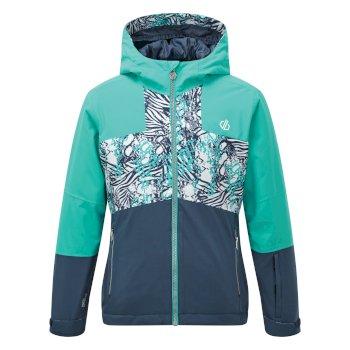 Dare 2b - Kids' Cavalier Waterproof Insulated Hooded Ski Jacket Ceramic Blue Ceramic Blue