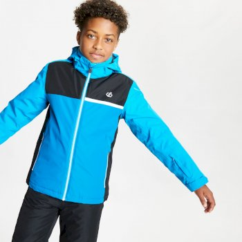 Dare 2b - Kids' Depend Waterproof Insulated Hooded Ski Jacket Methyl Blue Petrol Blue