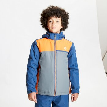 Dare 2b - Kids' Depend Waterproof Insulated Hooded Ski Jacket Dark Denim Blaze Orange