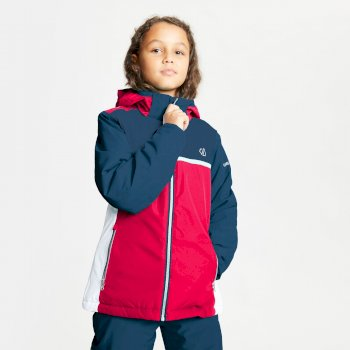 Dare 2b - Kids' Depend Waterproof Insulated Hooded Ski Jacket Ceramic Blue Dark Denim