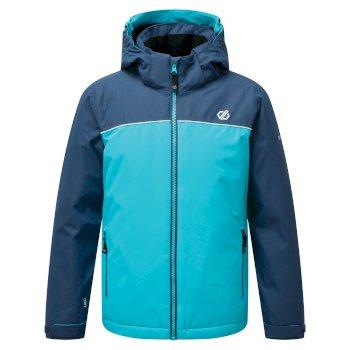 Dare 2b - Kids' Impose Waterproof Insulated Hooded Ski Jacket Ceramic Blue Dark Denim