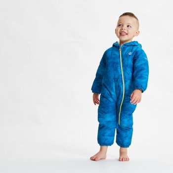 Dare 2b - Kids' Bambino II Waterproof Insulated Snowsuit Petrol Blue Geo Camo Print