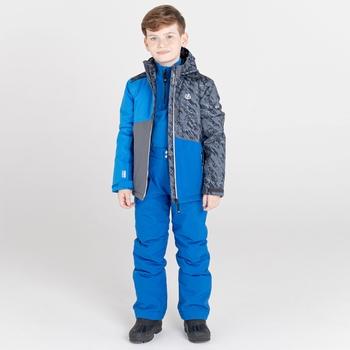 Kids' Glee Waterproof Ski Jacket Athletic Blue Black Shard Print