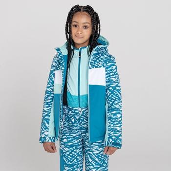 Kids' Humour Waterproof Ski Jacket Dark Methyl Zebra Print