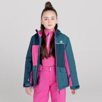 Kids' Remarkable Waterproof  Ski Jacket Nightfall Navy Raspberry Rose