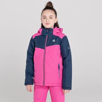 Kids' Impose II Waterproof Ski Jacket Raspberry Rose Nightfall Navy