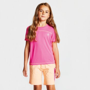 Dare 2b - Kids' Buoyant Active T-Shirt Cyber Pink
