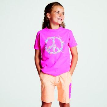 Różowy t-shirt dziecięcy Dare2b Frenzy