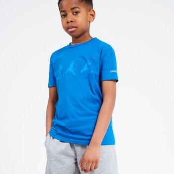 Dare 2b - Kids' Go Beyond Graphic T-Shirt Petrol Blue Methyl Blue