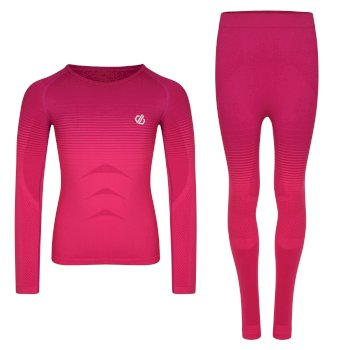 Dare 2b - Kids' In The Zone Base Layer Set Cyber Pink Gradient
