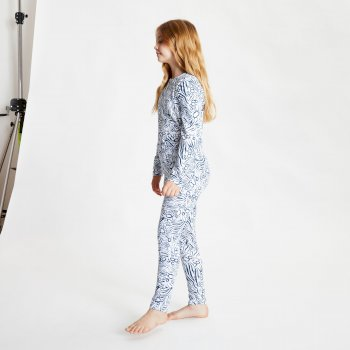 Dare 2b - Kids' Partition Base Layer Set Dark Denim Animal Fusion Print