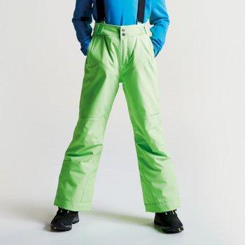 Kids Take On Ski Pants Neon Green