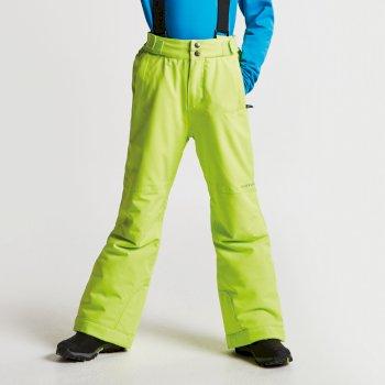 Kids Take On Ski Pants Electric Lime