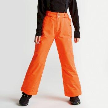 Kids Take On Ski Pants Vibrant Orange