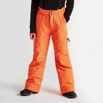 Kids Spur On Ski Pants Vibrant Orange