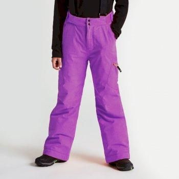 Kids Spur On Ski Pants Ultra Violet Purple