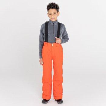 Dziecięce spodnie narciarskie Dare2B Motive pomarańczowe
