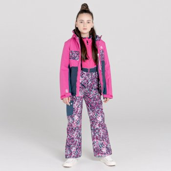 Dare 2b - Kids' Timeout II Waterproof Insulated Ski Pants Raspberry Rose Dark Denim