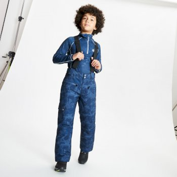 Dare 2b - Kids' Timeout II Waterproof Insulated Ski Pants Dark Denim Geo Camo Print