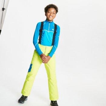 Dare 2b - Kids' Timeout II Waterproof Insulated Ski Pants Lime Punch Petrol Blue