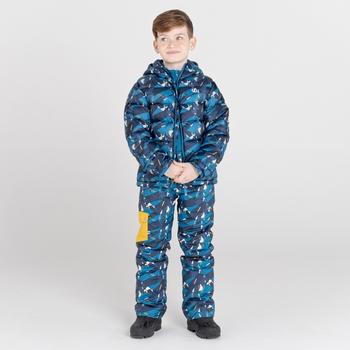 Dare 2b - Kids' Timeout II Waterproof Insulated Ski Pants Dark Denim Geometric Print