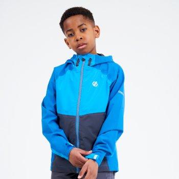 Dare 2b - Kids' In The Lead II Hooded Waterproof Jacket  Petrol Blue Methyl Blue