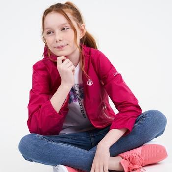 Dare 2b - Kids' Amigo Hooded Lightweight Jacket  Berry Pink