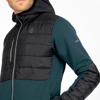 Dare 2b - Men's Narrative Full Zip Hooded Fleece Wild Green Black