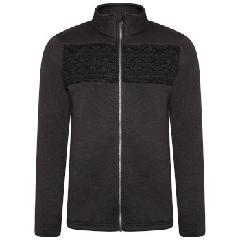 Dare 2b - Men's Inclose Full Zip Fleece Sweatshirt Ebony Grey