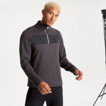 Dare 2b - Men's Spatial Half Zip Fleece Sweatshirt Ebony Grey