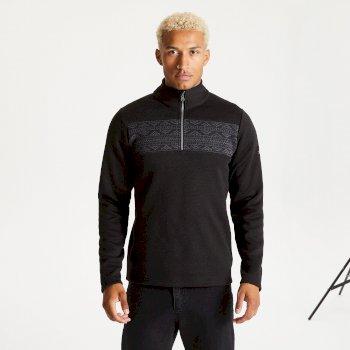 Dare 2b - Men's Spatial Half Zip Fleece Sweatshirt Black