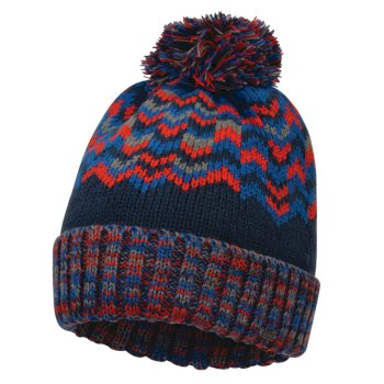 Dare 2b - Men's Headstrong Bobble Hat Admiral Blue Fiery Red