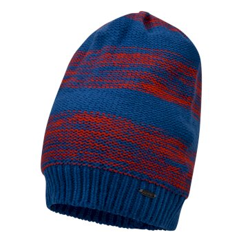 Men's Thesis Beanie Hat Oxford Blue Fiery Red