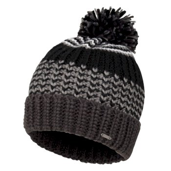Dare 2b - Men's Havoc Bobble Hat Black Ebony Grey