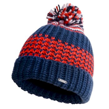 Dare 2b - Men's Havoc Bobble Hat Admiral Blue Fiery Red