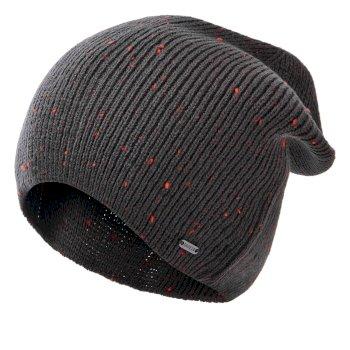 Męska czapka beanie Dare2B Thesis II szara - pomarańczowa