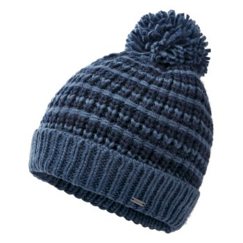 Dare 2b - Men's Mind Over II Fleece Lined Knit Bobble Beanie Nightfall Navy Dark Denim