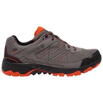 Dare 2b - Men's Viper Walking Shoes Aluminium Grey Trail Blaze Red