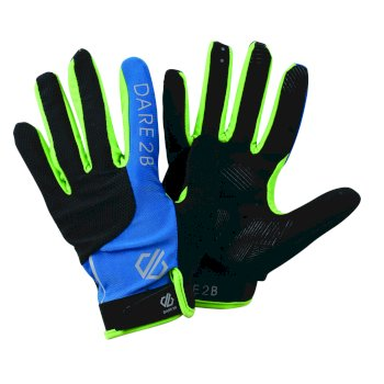 Men's Forcible Cycling Gloves Petrol Blue Jasmine Green
