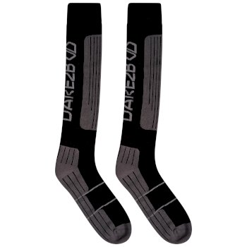Dare 2b - Men's Performance Ski Socks Black Ebony Grey