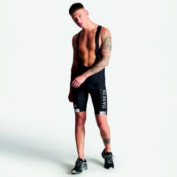 Men's AEP Artistry Bibbed Cycle Shorts Black White